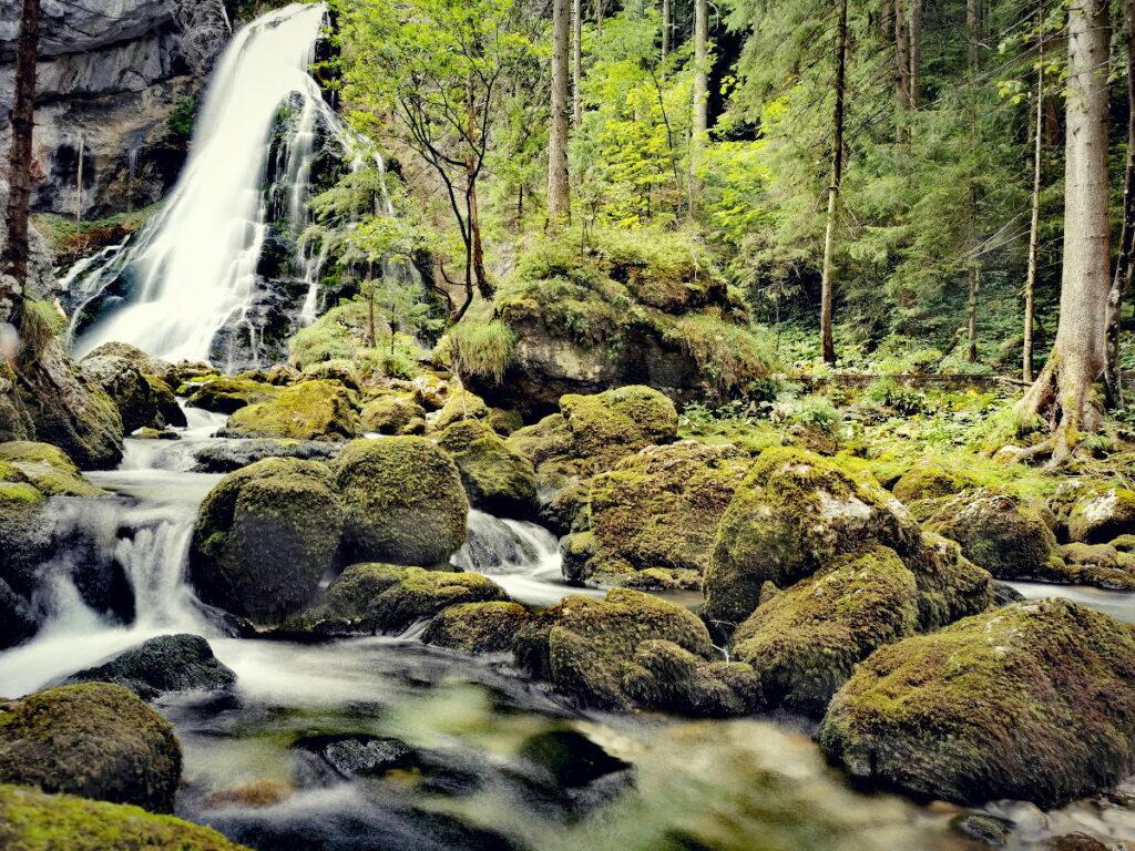Mystische Stimmung am Gollinger Wasserfall