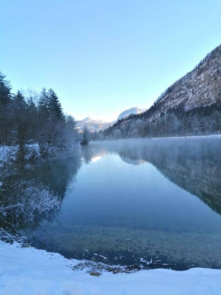 Nach dem Gollinger Wasserfall Winter - Erlebnis ins magische Bluntautal winterwandern