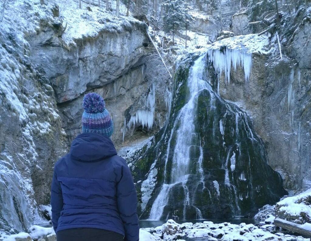 Gollinger Wasserfall Winter - Wanderung: So schauen die Wasserfälle im Winter aus