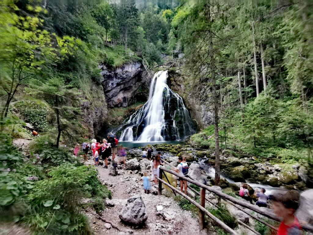 Die Gollinger Wasserfall Wanderung ist kurzweilig