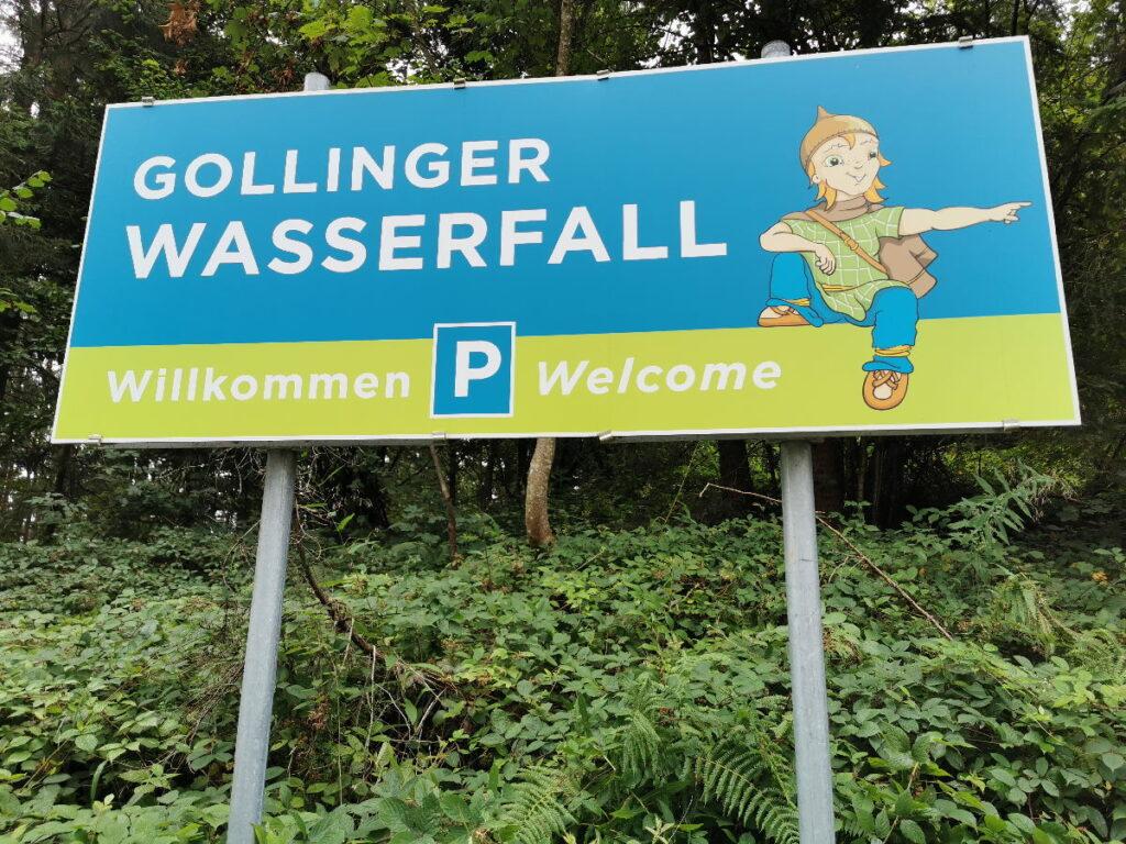 Am Gollinger Wasserfall parken - das ist zu beachten!
